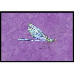 Carolines Treasures 8865MAT Dragonfly on Purple Indoor Or Ou