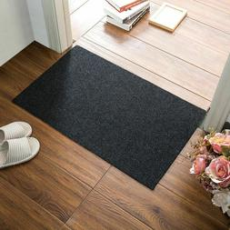 Basic Doormat for Front Door Entrance Kitchen Solid Dark Col