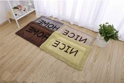 Bath Mats Cotton Bathroom Rug Set Step Out Absorbent Bathmat