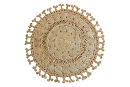 Handmade Braided Circle Room Doormat Indian Indoor Mat Jute