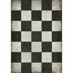 Classic Pattern 7 Checkered Past Rectangle Floor Vinyl By Sp