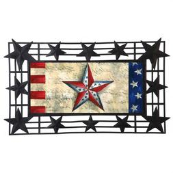 decorative black stars sassafras mat tray 43bm008