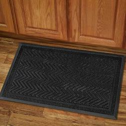 Doormat Black Indoor Outdoor Mats Rugs Rubber