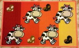 EGYPTIAN PRINTED RUG   4 CUTE COWS, by ARKWRIGHT