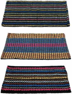 Floor Mats Traditional Style Eco Series Cotton Blend Pack 3