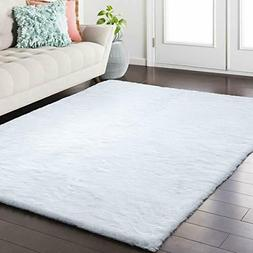 Softlife Fluffy Faux Fur Rug 3' x 5' Soft Area Rugs for Bedr