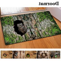 Funny Animal Printed Door Mat Thin Carpet Small Indoor Area