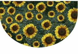 Half Round Rubber Door Mat, Decorative Indoor Outdoor Fall D
