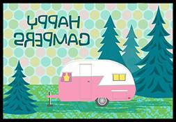 Happy Campers Glamping Trailer Indoor or Outdoor Mat 18x27 V