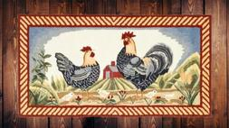 ivory red animal country rooster barn indoor