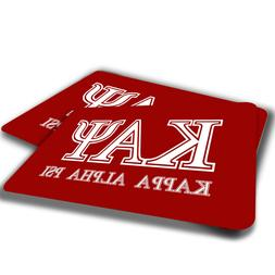 Kappa Alpha Psi Red White Fraternity Indoor Door Mat Rug TWO