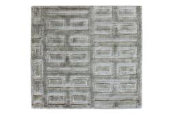 Handmade Kitchen Mats Indoor Rugs Viscose Room Rug Grey Colo