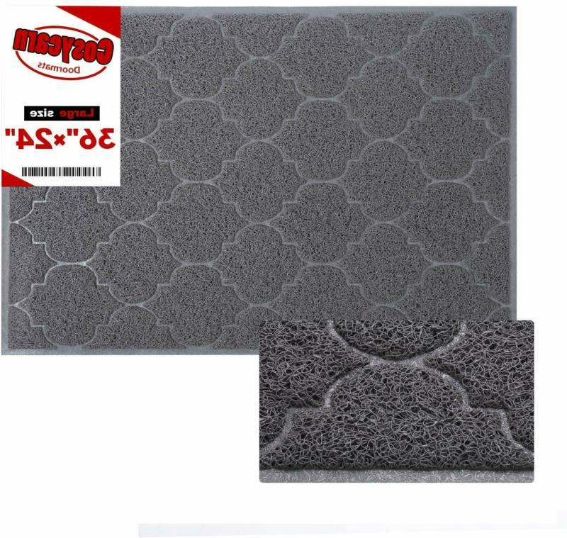 front door mat inside or outside entryway