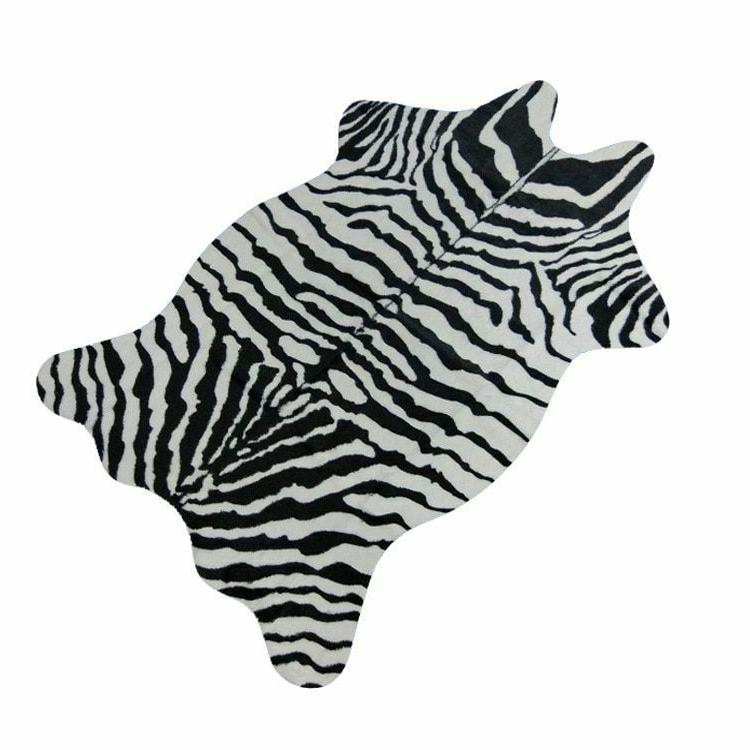 zebra cow goat printed carpet velvet imitation