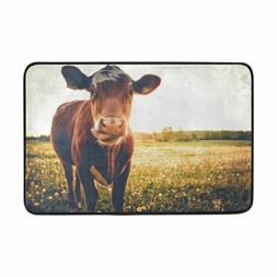 Lovely Cows Print Carpets Non-slip Kitchen Rugs For Home Liv