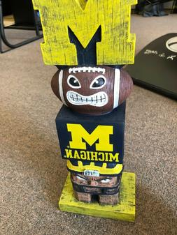 Team Sports America Michigan Wolverines Tiki Tiki Totem Free