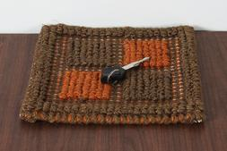 Multi Color Flat Weave Rugs Indian Table Mat South Western C