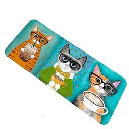 Printing Cat Rug Outdoor Indoor Carpets Non Slip Soft Doorma