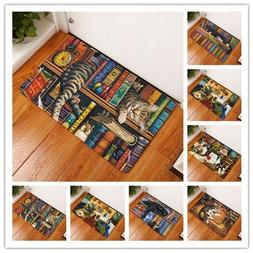 Rectangle Light Welcome Home Door Mats Funny Lazy Bookshelf