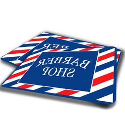 Red White Blue Barber Shop Sign Design Indoor Door Mat Rug T