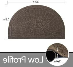 Rubber Doormat Indoor Outdoor Half Round Front Door Mat, Low