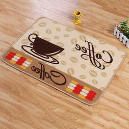 US Soft Coffee Cup Pattern Small Rug Bedroom Kitchen Anti-sl