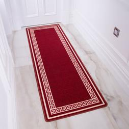 Washable Kitchen Mat | Long Non Slip Hall Runners | Red Trad