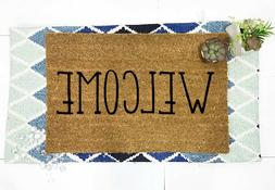 "Welcome Outdoor/Indoor Mat 24""X16"" Handmade by BeaWOODtiful"